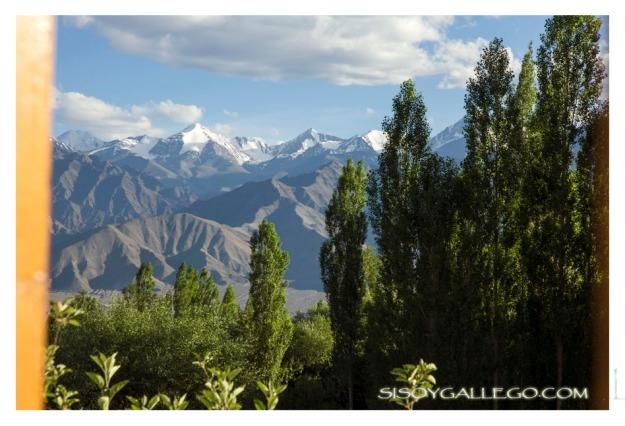 Cadena montañosa de Ladakh. Vista desde Leh