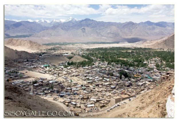 La ciudad de Leh, a vista de pájaro