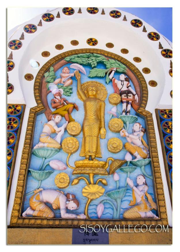 El nacimiento de Buda en la Stupa de Leh