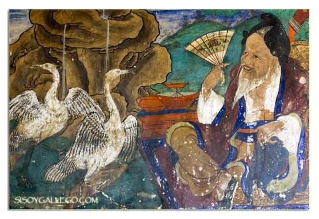 Fresco pintado en los muros de entrada al monasterio de ..........................