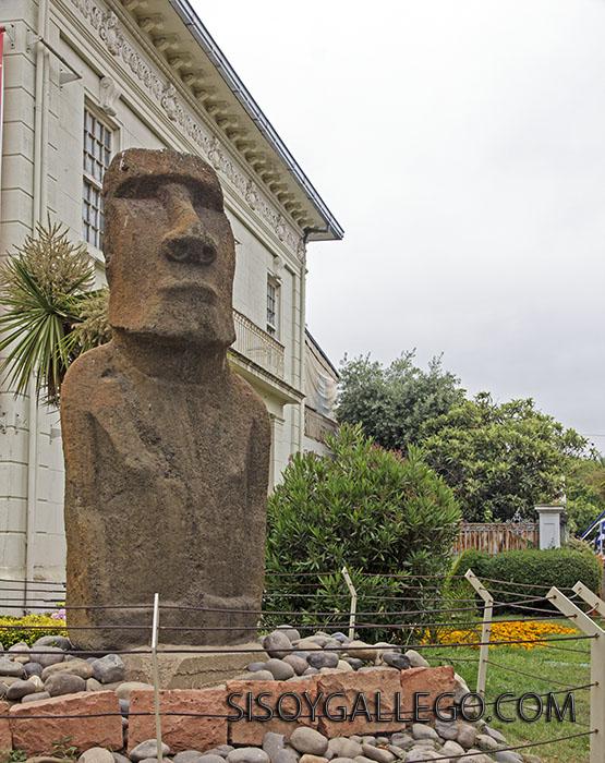 2.Isla de Pascua.estatua de piedra monolítica Moai