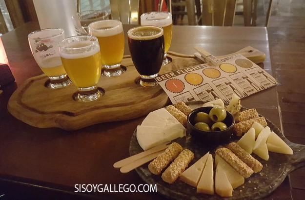 Degustacion cerveza y queso.